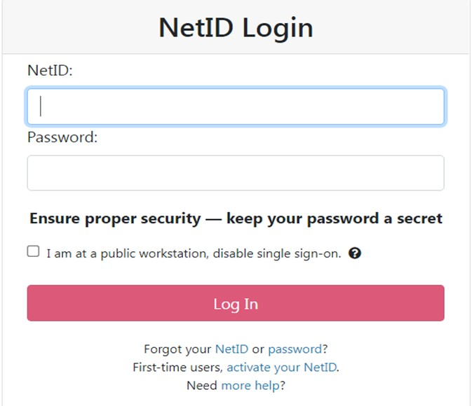 netid login with password